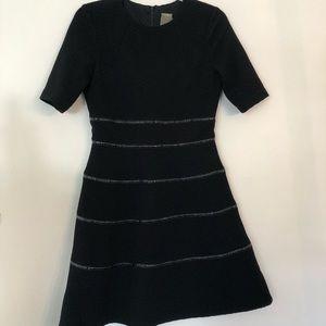 Taylor Black Structured Dress